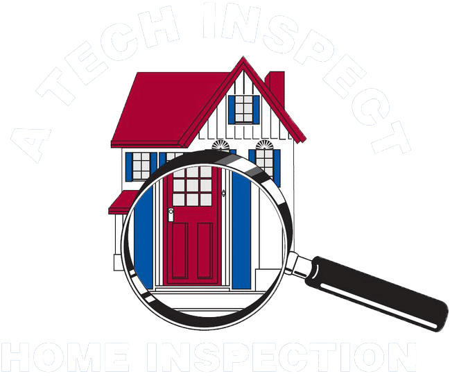 A Tech Inspect Logo Transparent White Text